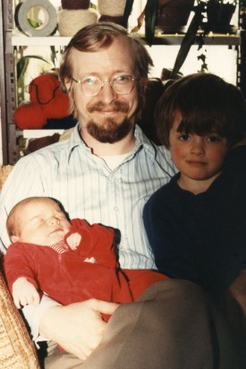 John in Orono, Maine in 1984, when Andrew was 3 and Michael was 1.